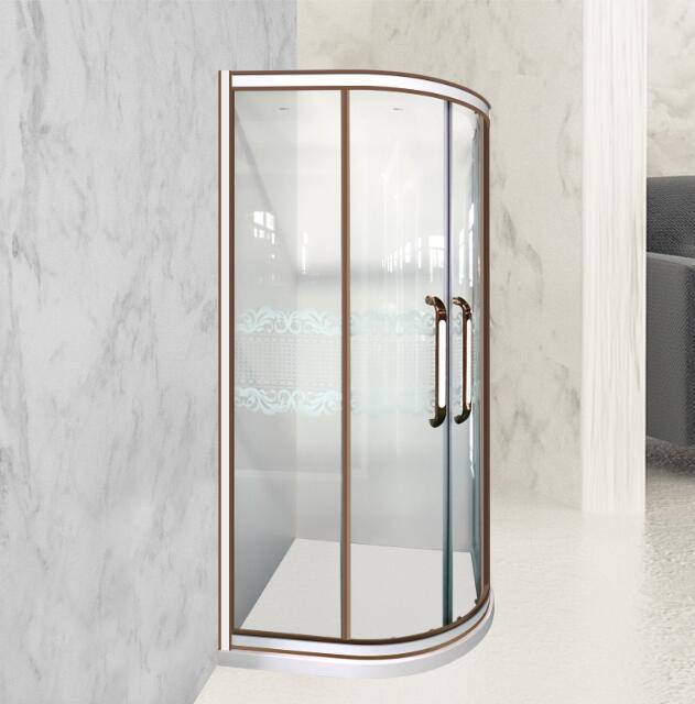 圆弧形定制淋浴房
