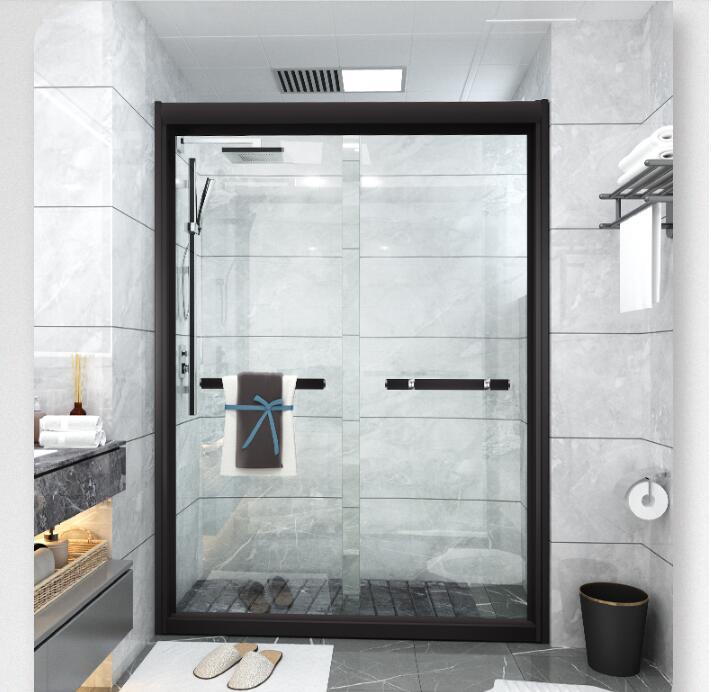 YHE003整体钢化玻璃推拉淋浴房