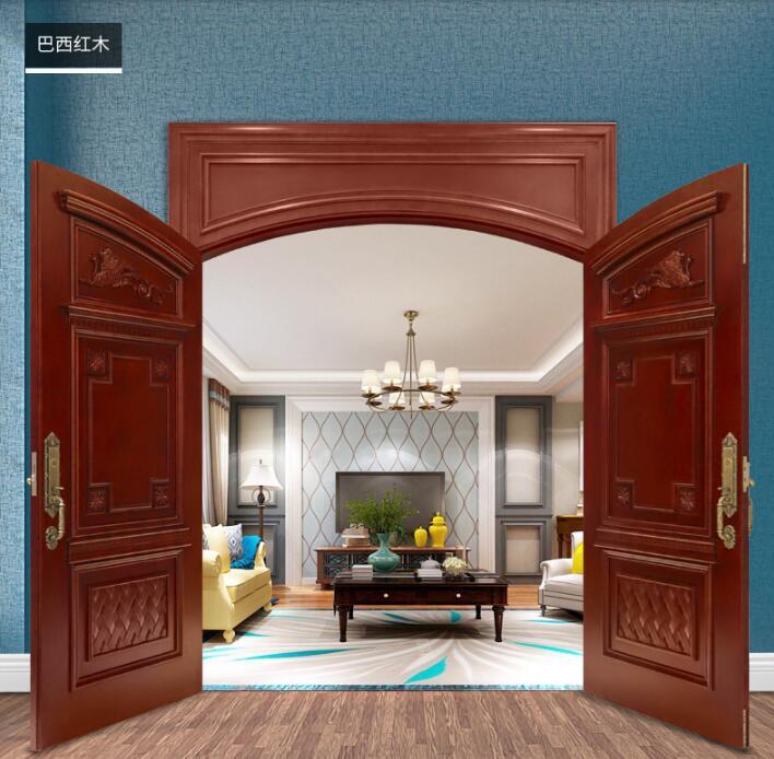 现代中式实木门