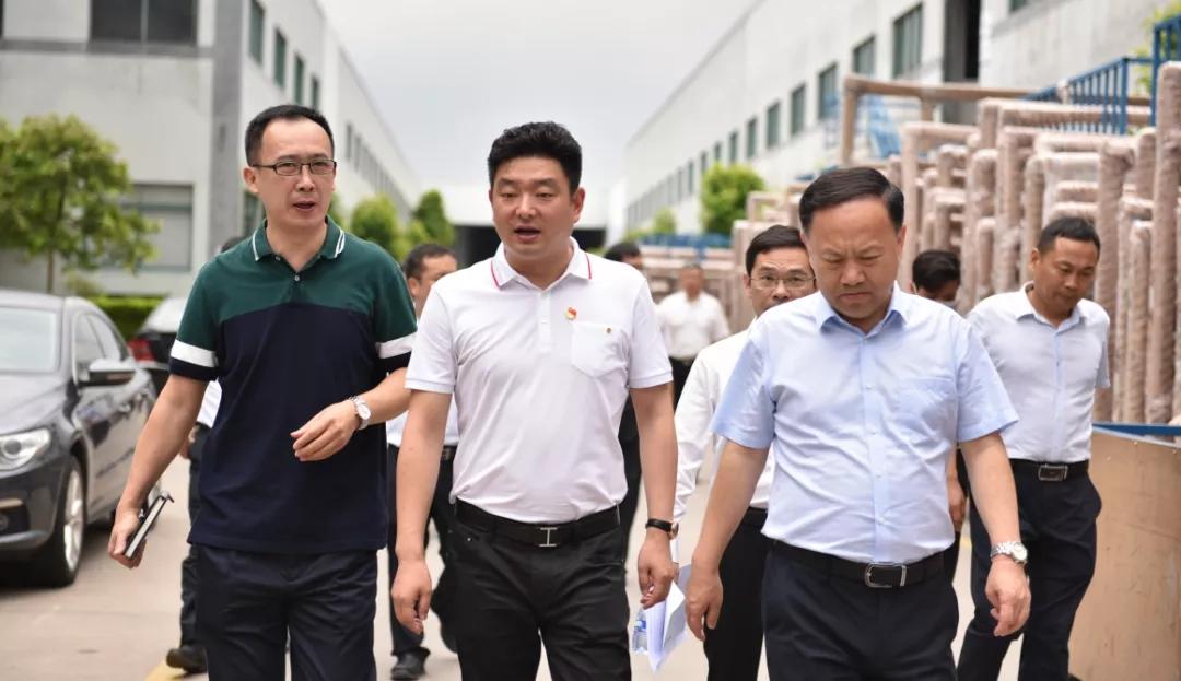 热烈欢迎佛山市赵海副市长一行莅临亿合门窗调研指导